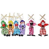 Dabixx Peluche de marioneta de madera para mascotas
