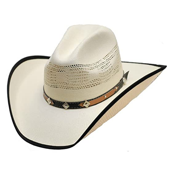 3559a187374 Cotswold Country Hats White Cowboy Hat With Diamond and Star Band. Bangora  Straw. Elasticated Sweatband. S M L XL.