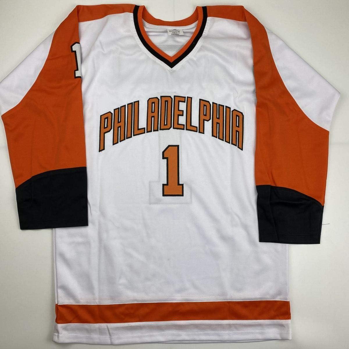 Autographed//Signed Bernie Parent Philadelphia White Hockey Jersey JSA COA