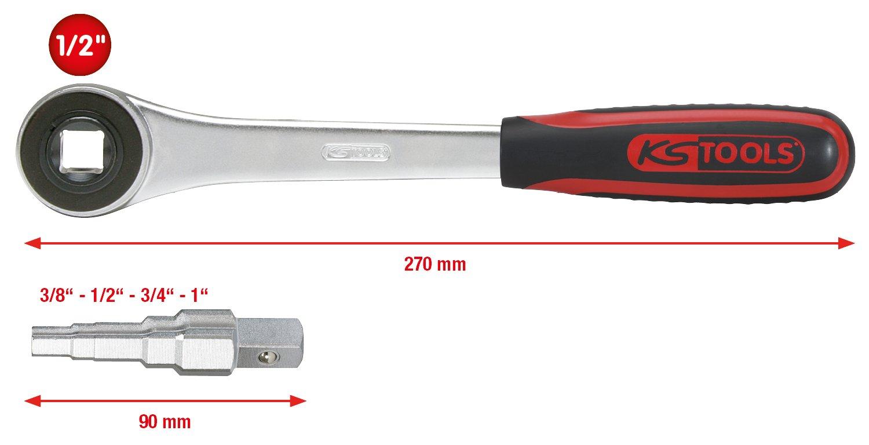KS Tools 130.3000 Universal-Stufenschl/üssel-Satz 3//8-1 2-tlg.
