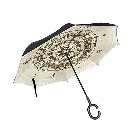COOSUN Capa del compás doble del paraguas invertido inversa para el coche y el uso al