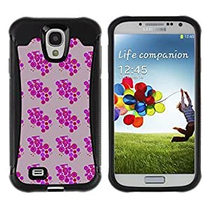 Travers-Diy FlareStar Colour Printing cool circles Heavy Duty Armor Shockproof Cover Rugged case cover for SAMSUNG Galaxy S4 IV / i9500 / hBBkGjyQdMa i9515 / /