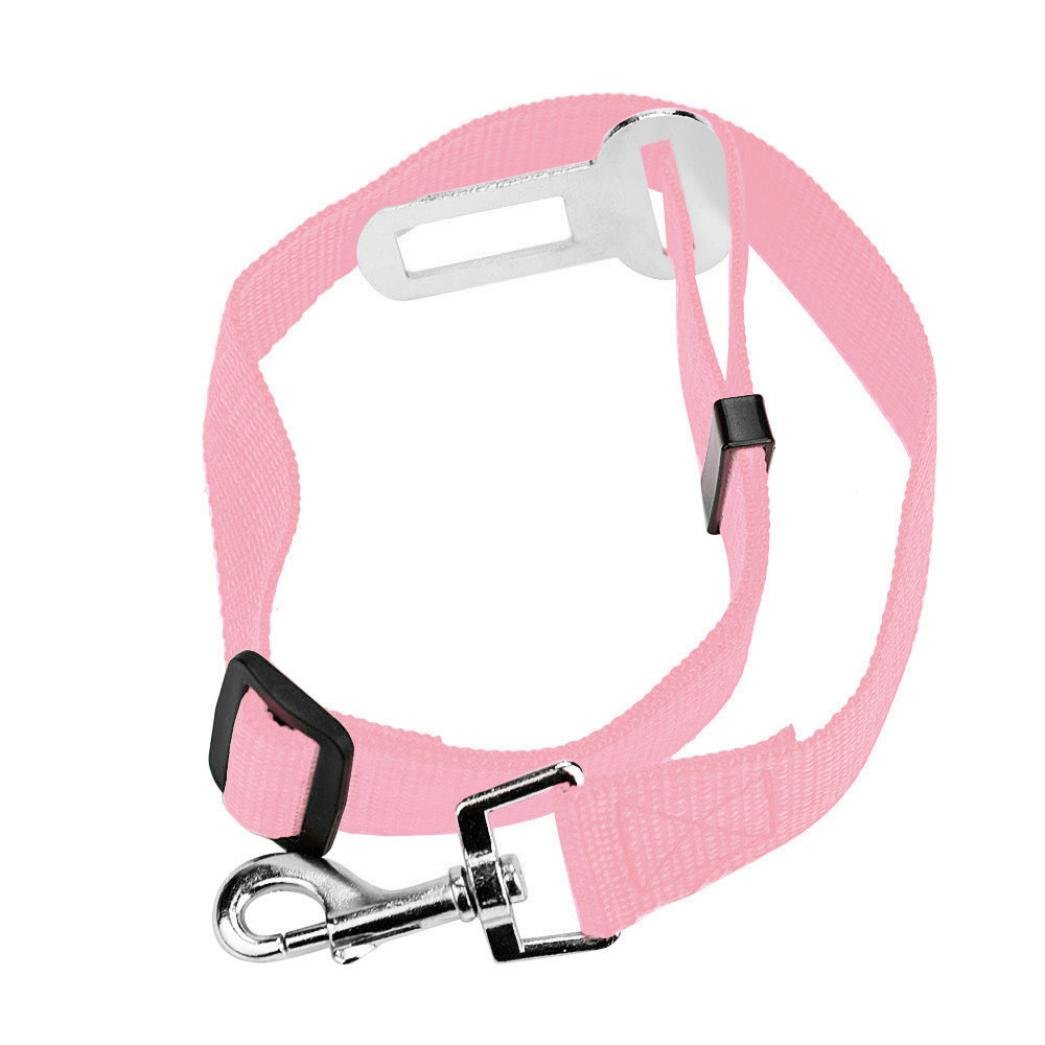 NewKelly Dog Safety Belt Vehicle Car Protect Seat Seatbelt Lead Clip Pet Cat (G)