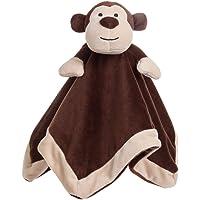 Apricot Lamb Stuffed Animals Security Blanket Grey Elephant Infant Nursery Character Blanket Luxury Snuggler Plush(Brown…