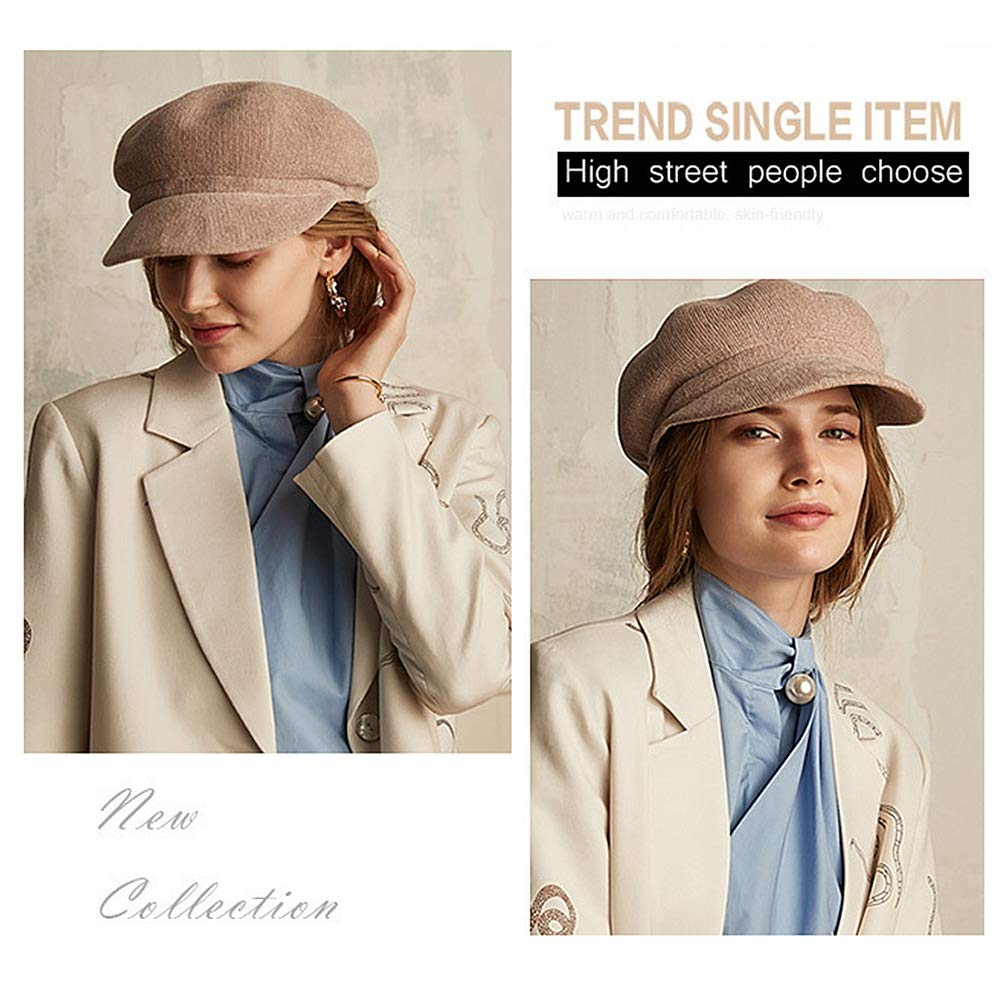 Color : Black Casual Ladys Winter Cap Cloche Fedora Hat for Ladies Church Bowler Hats Derby Party Fashion Winter Women Soft Classic Vintage 1920s 1950s Style