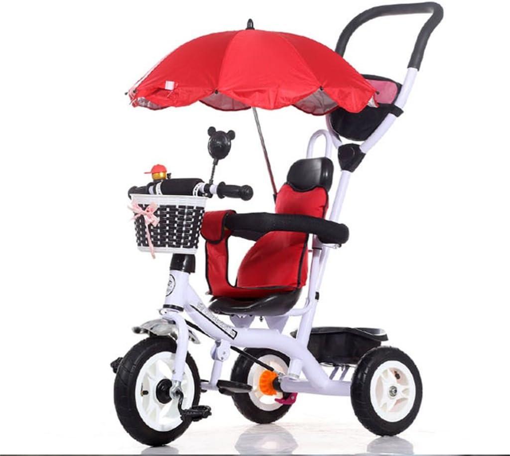 BZEI-BIKE Carritos de Triciclo para Niños Carruajes de bebé Bicicletas para Niños 3 Ruedas, WhiteBike (Niño/Niña, 1-3-5 Años) Niños Juguetes