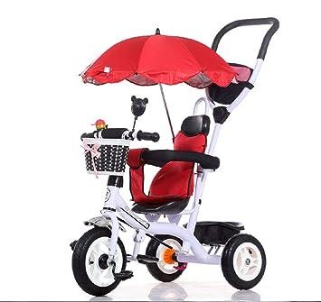 QWM-Las bicicletas infantiles para bebés Niños Carros de triciclo Carritos de bebé Niño Bicicletas