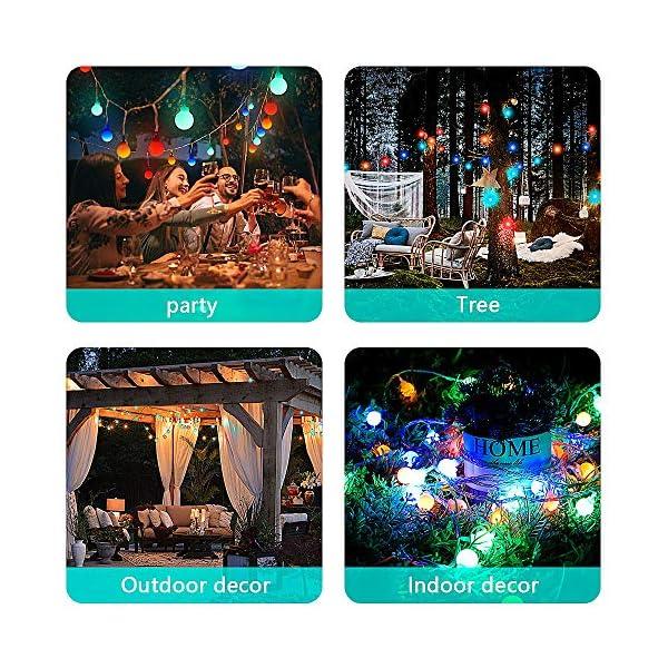 Luce della stringa,Tececu luce decorativa esterna 100 Palla LED USB, Catene Luminose 10M con 8 Modalità, per Interno/Esterno, Feste, Giardino, Natale, Matrimonio, Albero di Natale, Terrazzo 7 spesavip