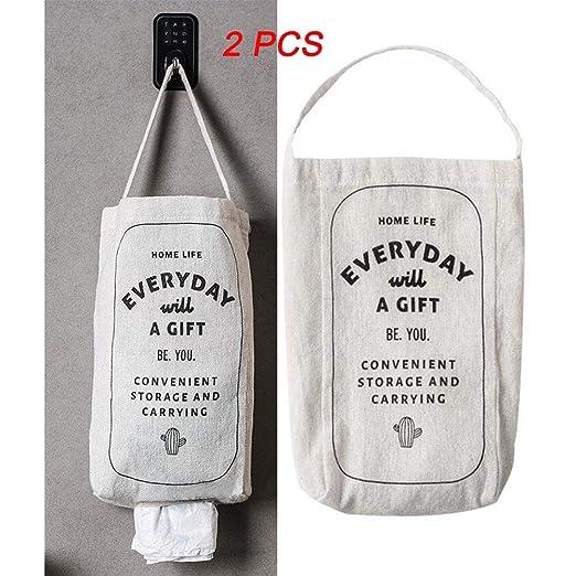 Dispensador de bolsas de plástico para colgar en la pared, 2 ...