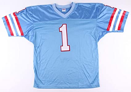 0656d34a Warren Moon Unsigned Houston Oilers Custom Jersey - Size XL at ...