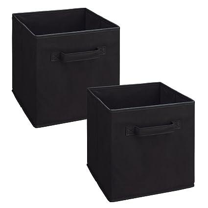 ClosetMaid 8298 Cubeicals Fabric Drawer, Black, 2 Pack