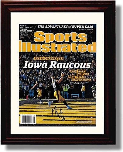 フレーム入りジョージKittle Sports Illustrated Autographレプリカ印刷 – Iowa Hawkeyes   B01N3936Z7