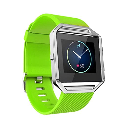 2 opinioni per Dokpav® Fitbit Blaze Cinturino Cinghia di Orologio in Silicone per Fitbit Blaze