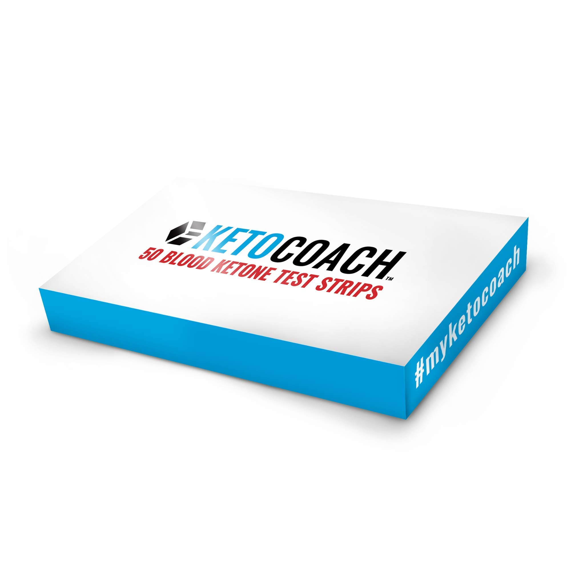 KetoCoach Blood Ketone Strips (50 Pack) - for Use with KetoCoach Blood Ketone Meter - Measure Blood Ketones on The Ketogenic Diet by KetoCoach