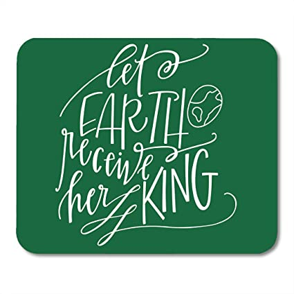 Jesus Christmas Quote.Amazon Com Shirna Mouse Pads Christian Let Earth Receive