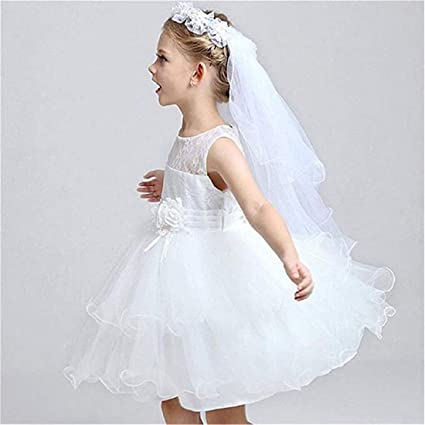 eb29aaca5 Amazon.com: LOSOUL Girls' White Pearl Rhinestone Center Floral Crown First  Communion Flower Girl Head Wreath with Veil: Musical Instruments