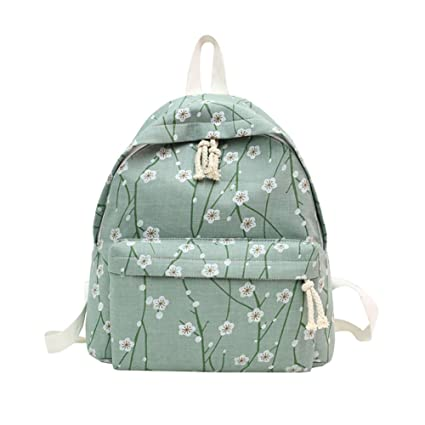 5ceef36f2e20 Image Unavailable. Image not available for. Color  Slendima Fresh Color  Floral Printed Girls Canvas Backpack