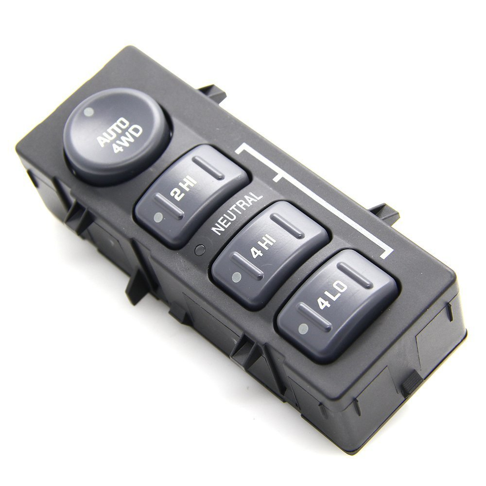 4WD 4x4 Wheel Drive Selector Switch Transfer Case Selector Dash Switch for 2002 Cadillac 1999-2002 Chevrolet 1999-2002 GMC Pickup Truck SUV 15709327 19168767 Reachautoparts