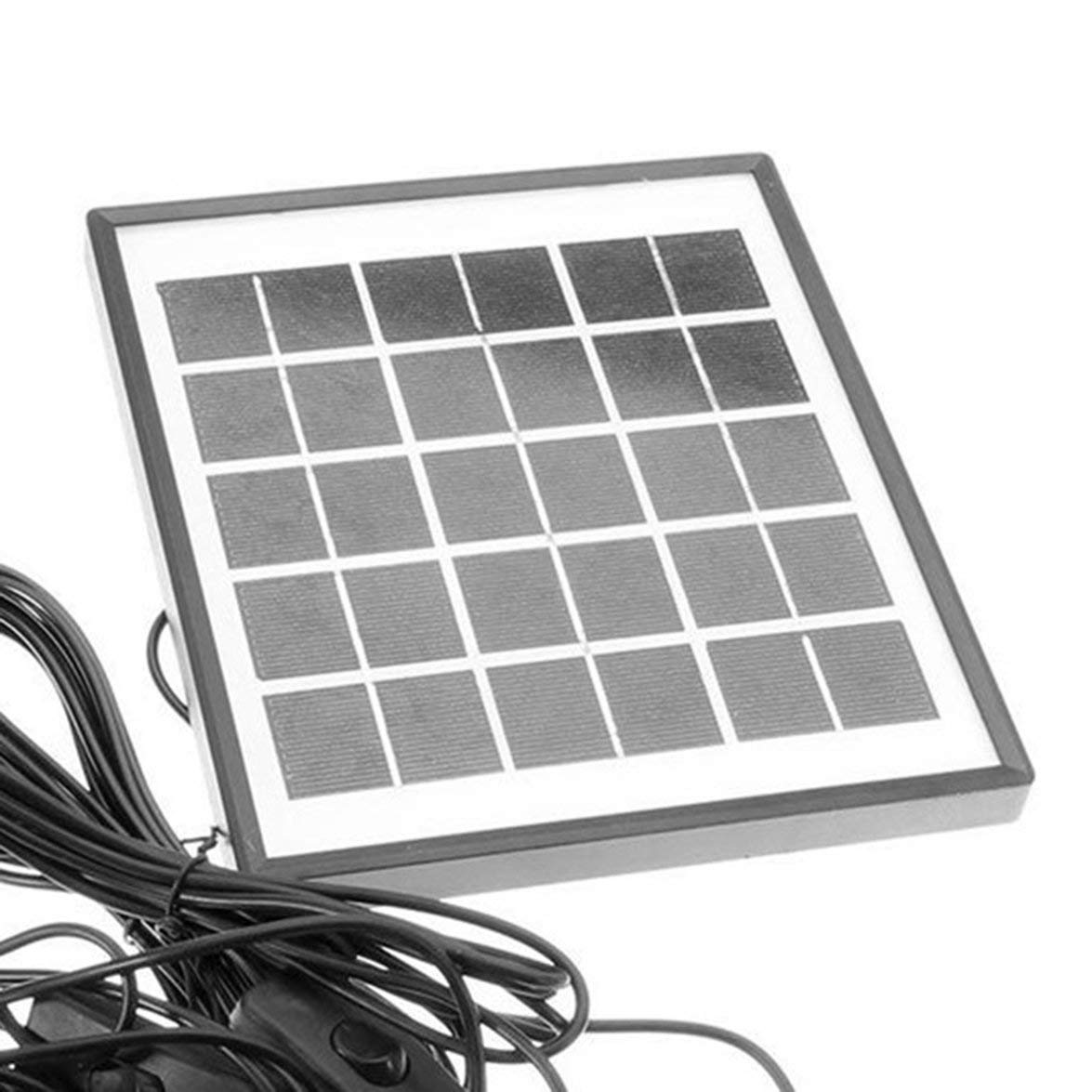 Kongqiabona 4W 6V Outdoor Solar Power Panel LED Light Lamp Charger Home Garden System Kit