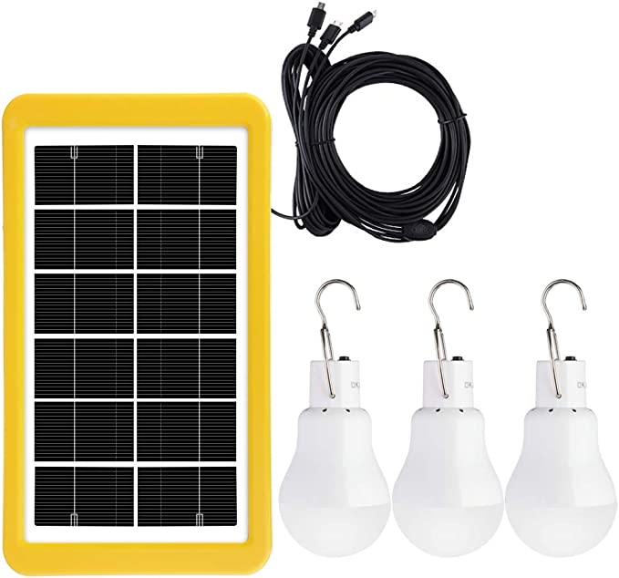 Portable Solar Powered Light Panel Bulb LED Lighting Outdoor /& Indoor USB Charge