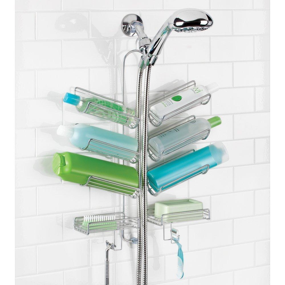 Amazon.com: mDesign Bathroom Hose Shower Caddy for Shampoo ...