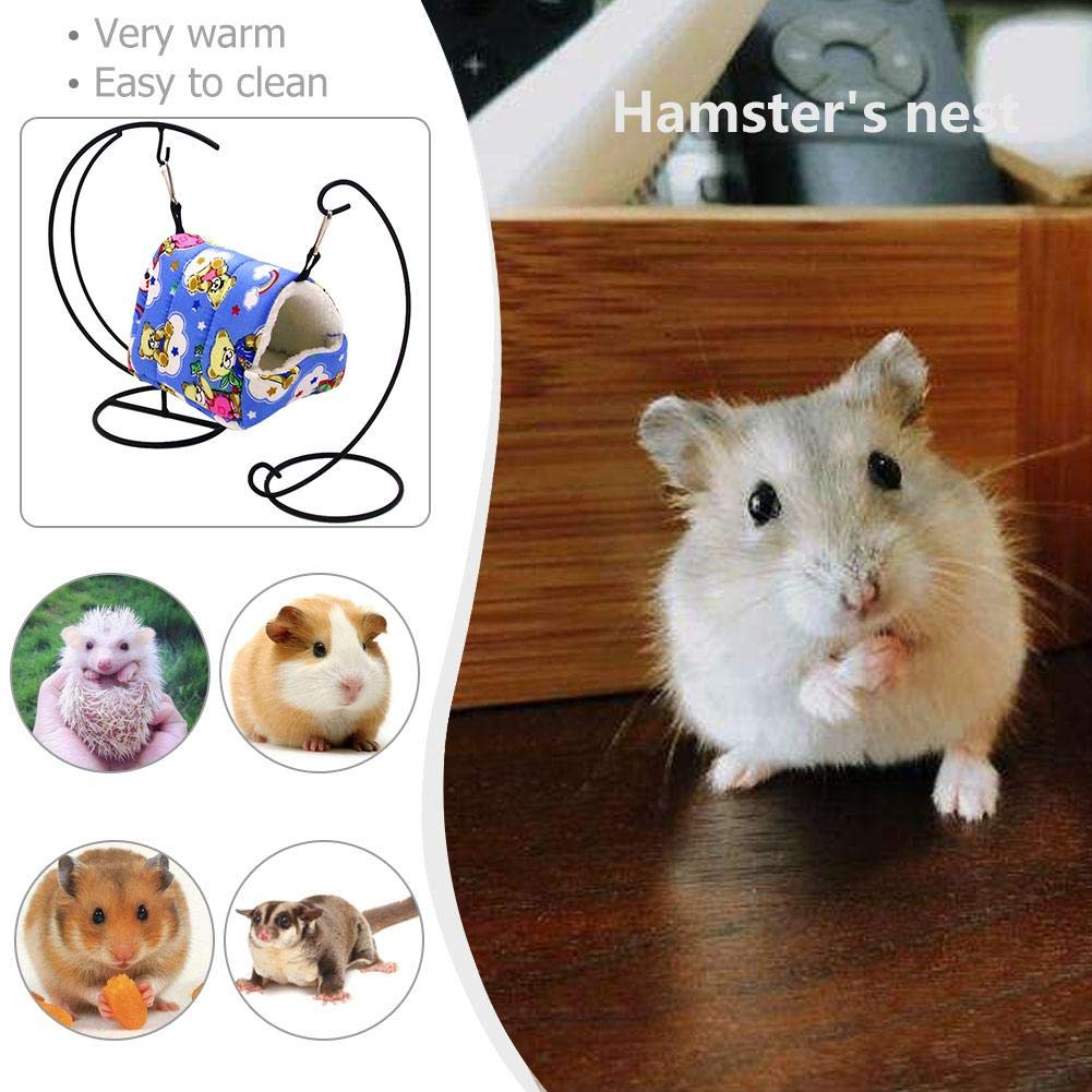 GLOBEAGLE Hamster Nest Mascota Animal Nido Peluche pájaro Cueva Jaula Caliente para Colgar Cama Caseta de Juguete casa: Amazon.es: Productos para mascotas