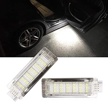 GOFORJUMP 2 PCS//Set Car Trunk LED Courtesy Lights 18 SMD Courtesy Door Puddle Footwell Boot Lamp for B//MW