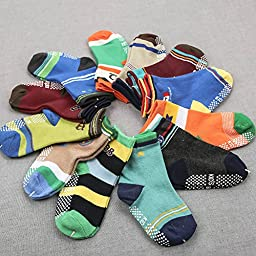 Baby Non-skid Socks Toddler Boys Ankle Socks for 8-36 Months by Toptim (12 Pairs)