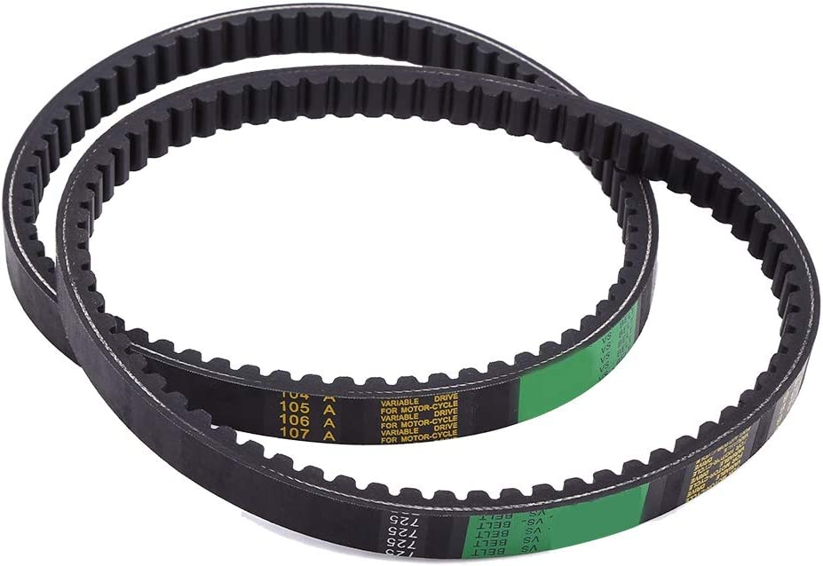 2 Pack Drive Clutch Belt Go Kart Drive Belt Replaces for Hammerhead 80T and TrailMaster Mid XRX Go-Karts 9.100.018-725