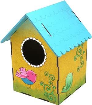 Casa para pájaros, para pintar - Pájaros: Amazon.es: Jardín