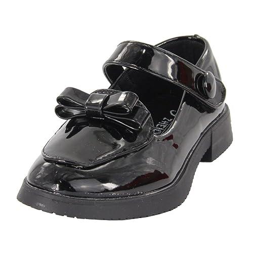Maxu Mocasines de poliuretano para niña Negro negro: Amazon.es: Zapatos y complementos