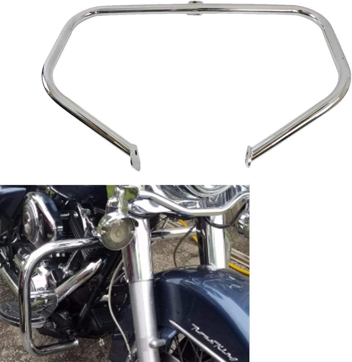AUFER 1 1//4 Chrome Engine Guard Highway Crash Bar Fits For Touring Electra Glide FLHT HD Road King 1997-2008