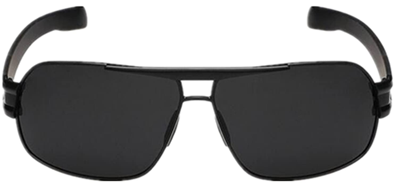 Full Rim Square Polarized Black-Black Sunglasses for Outdoor Activities Enthusiasts