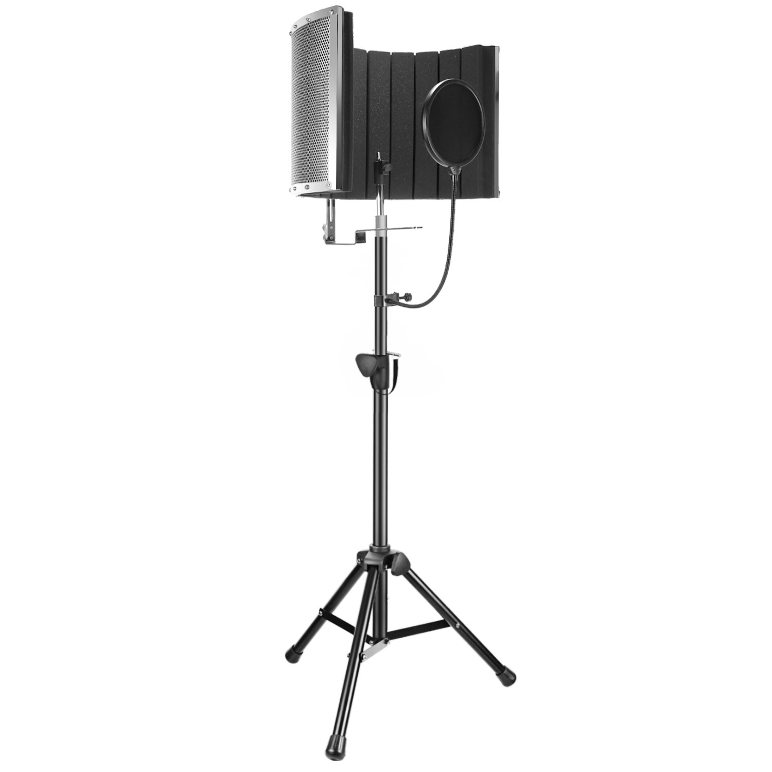 Neewer Professional Microphone Studio Recording Accessories Include: NW-6 Microphone Isolation Panel, Wind Screen Bracket Stand and Pop Filter for Vocal Acoustic Recording and Podcasting by Neewer