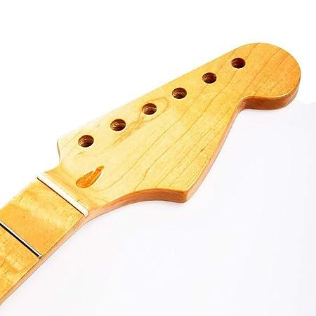 Trasero de madera de arce duradero Reemplazo del diapasón del cuello del arce Adecuado para la guitarra eléctrica ST Strat: Amazon.es: Instrumentos ...
