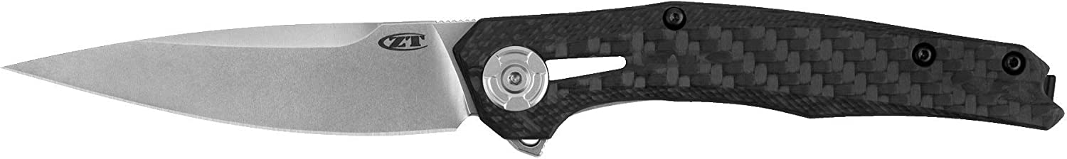 Zero Tolerance 0707 Folding Knife, CPM 20CV Blade Steel, Tuned Detent System for Smooth Opening, 3.5 Inch Drop Point Blade, Made in The USA