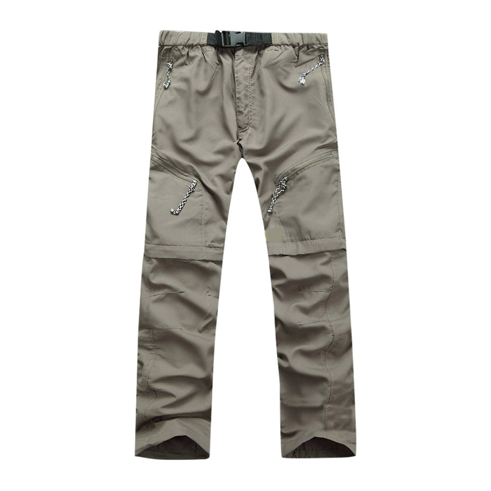 Men's Detachable Pants,Clearance-Summer Fashion Causal Waterproof Outdoor Quick Dry Solid Beach Pants Trousers