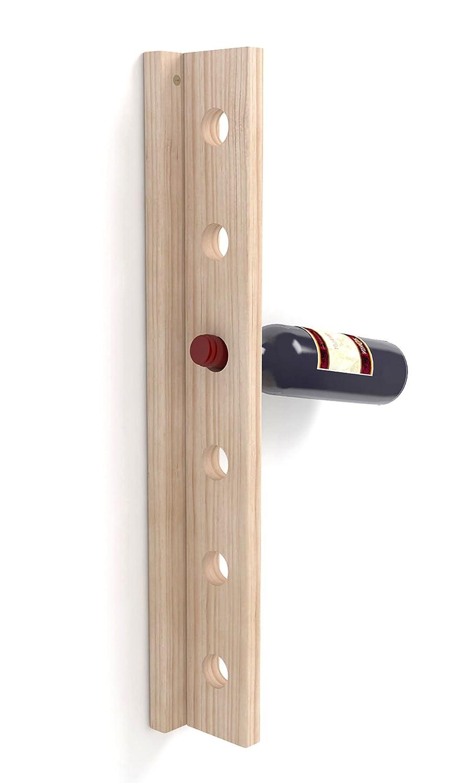 ASTIGARRAGA KIT LINE T-6 T60000.99, Botellero de Pared 6 Botellas, 60.5 x 9.5 x 7.5 TINKO6