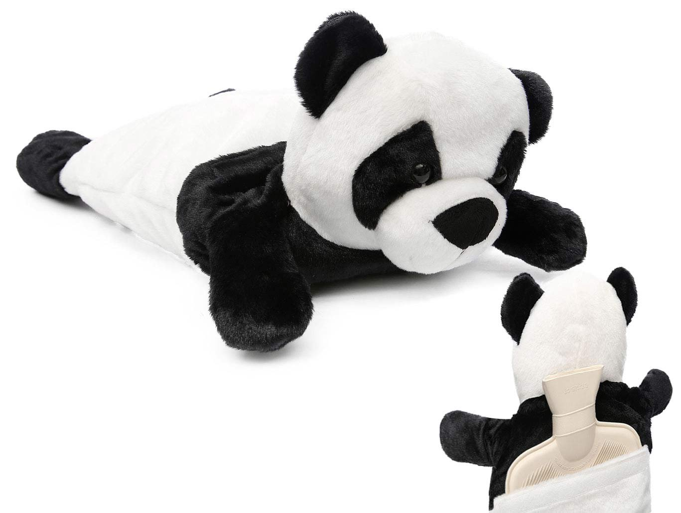 HomeTop Premium Adorable Rubber Hot or Cold Water Bottle with Cute Stuffed Panda Cover 2 Liters (Cute Panda) by HomeTop