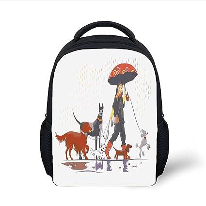 Amazon.com  iPrint Kids School Backpack Dog Lover Decor e291369bab4b2