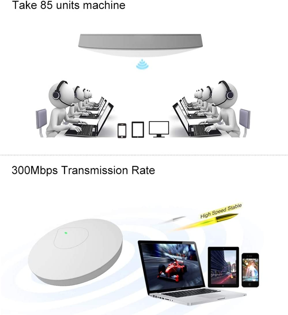 Computer Cables CF-E335N Atheros AR9341 Dual SE2576 300Mbps//s Wall Ceiling Wireless WiFi AP//Repeater//Network Bridge with RGB LED Indicator Light /& 48V POE Adapter Network Cables