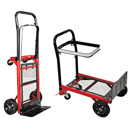 Furnituredeals Carretilla de Transporte de Coches Carrito Plegable Carrito de herramientas