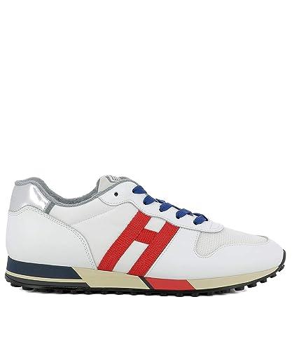 Hogan Hombre HXM3830AN50JQQ0PL3 Blanco Cuero Zapatillas: Amazon.es: Zapatos y complementos