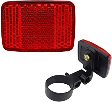 Bicycle Front Rear Reflector Bike Reflective Lens Cycling Safety Warning Light #