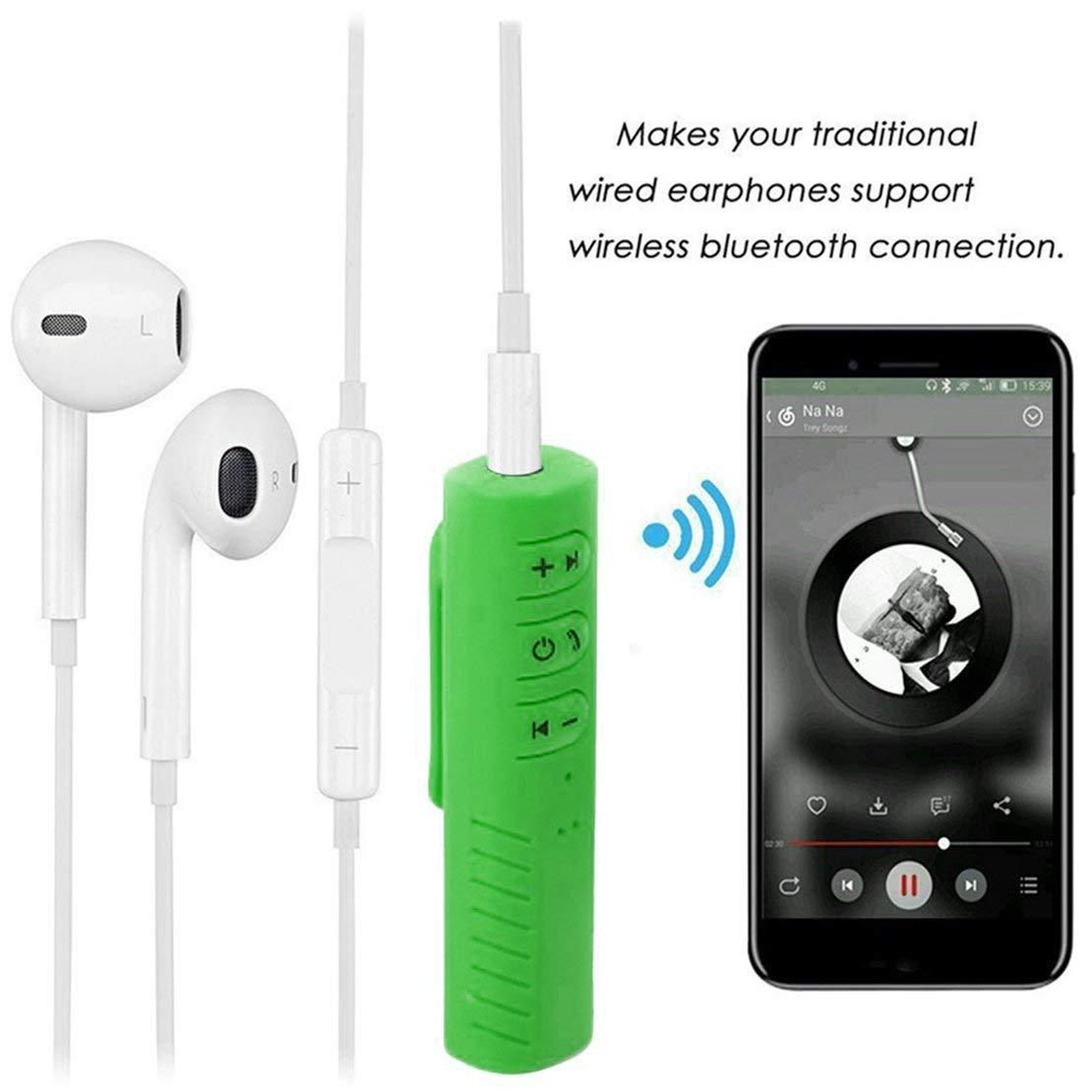 Mini Wireless Bluetooth 4.1 Receptor de Manos Libres 3.5mm Adaptador de Audio autom/ático con micr/ófono para Coche est/éreo tel/éfono MP3