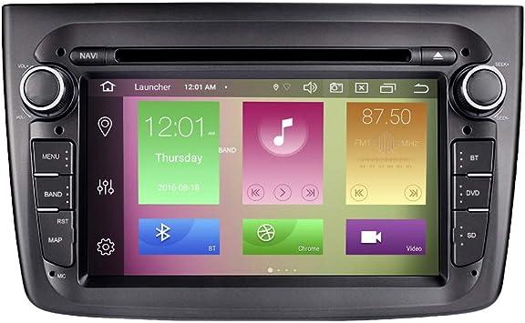 Booyes Für Alfa Romeo Mito 2008 2012 Android 10 0 Octa Core 4 Gb Ram 64 Gb Rom 7 Zoll Dvd Player Unterstützung Für Multimedia Gps Systeme Autowiedergabe Tpms Obd 4g Wifi Dab Unterstützung 4k Video Navigation