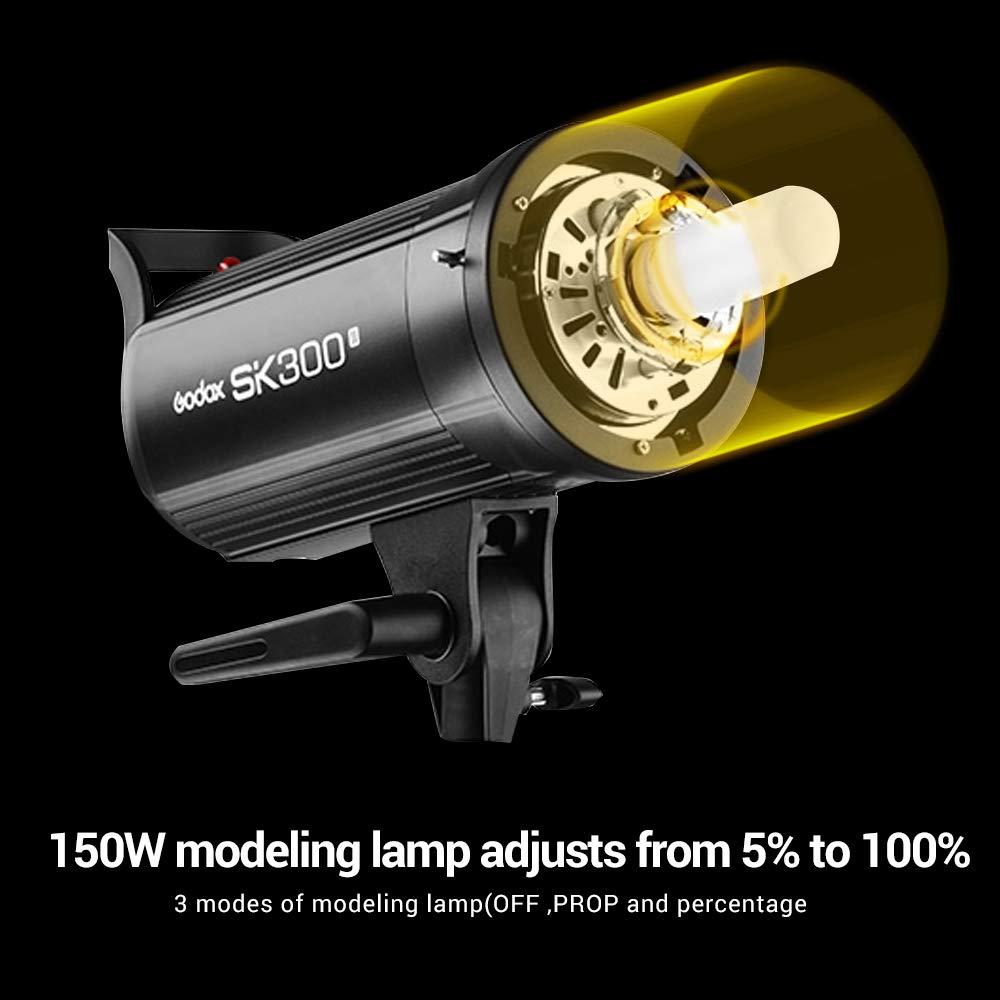 Godox SK300II Studio Strobe 300Ws GN65 5600K Bowens Mount Monolight, Built-in Godox 2.4G Wireless System, 150W Modeling Lamp, Outstanding Output Stability, Anti-Preflash, 1/16-1/1 40 Steps Output by Godox (Image #3)