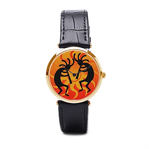 puppya barato desierto de piel relojes hombre muñeca relojes Marcas baile negro/oro: Amazon.es: Relojes