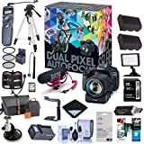 Canon EOS 80D DSLR Video Creator Kit - with EF-S18-135/3.5-5.6 IS USM Lens - Rode VIDEOMIC GO Mic, 32G SD Card - Power Zoom Adapter - Bundle with Complete Accessory Kit