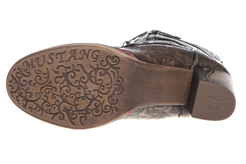 Mustang Shoes Stiefeletten in Übergrößen Mittelbraun 1287